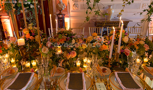 reception wedding gala dinner Light Design event palazzo rocca