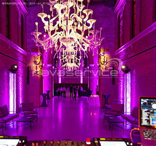 wedding party lighting venice