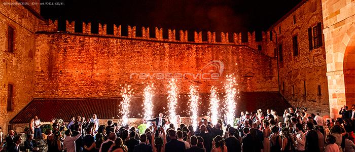 event light fireworks guests surprise