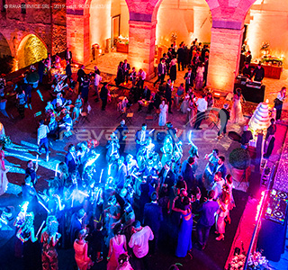 event dancefloor blue light bright