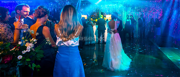 event wedding blue light dance romantic