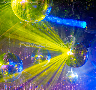 event mirror ball dancefloor lightning colorful