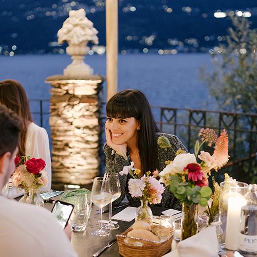 Laura Comolli lago maggiore festa compleanno luci ravaservice