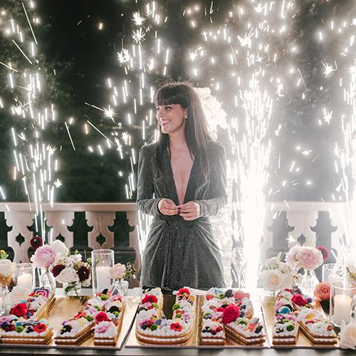 Laura Comolli lago maggiore festa compleanno luci ravaservice sparkular torta