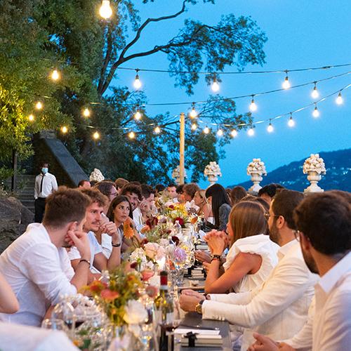 Laura Comolli lago maggiore festa compleanno luci ravaservice cena tavolo decorazioni