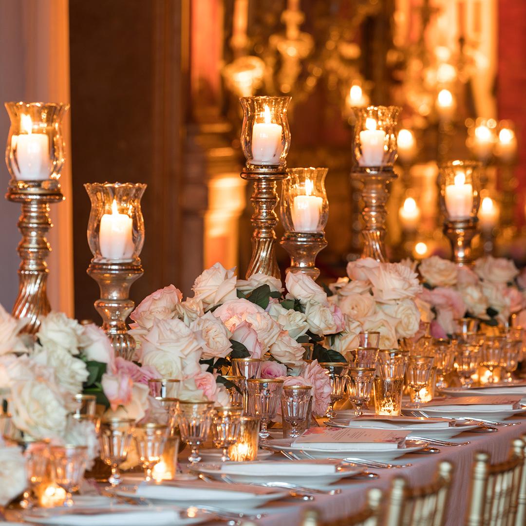 Addobbi floreali matrimonio tavolo